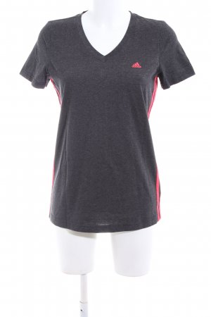 Adidas Sports Shirt light grey-red casual look