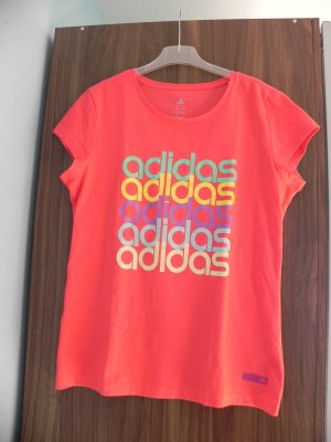 Adidas T-shirt de sport orange fluo-rouge clair