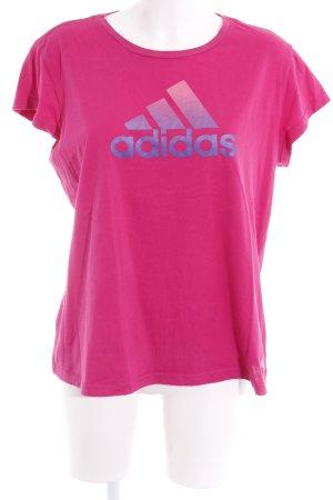Adidas Sportshirt magenta Motivdruck Casual-Look