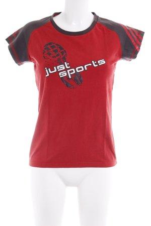 Adidas Sportshirt Motivdruck Casual-Look