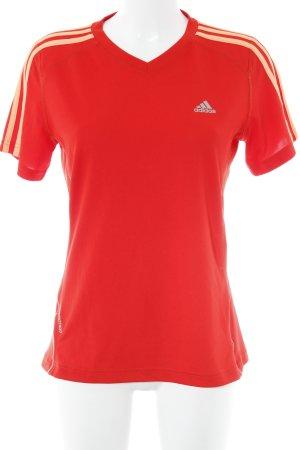 Adidas Sportshirt neonorange-rot sportlicher Stil