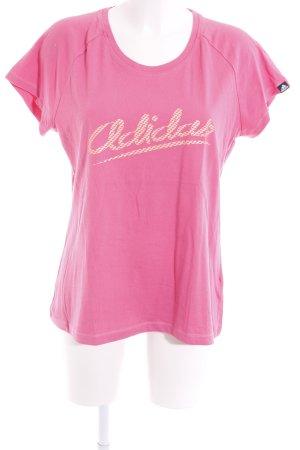 Adidas Sportshirt pink Motivdruck Casual-Look
