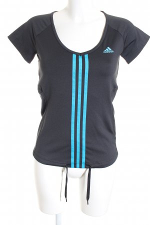 Adidas Sportshirt schwarz-neonblau sportlicher Stil