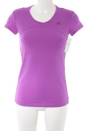 Adidas Sportshirt violett Casual-Look