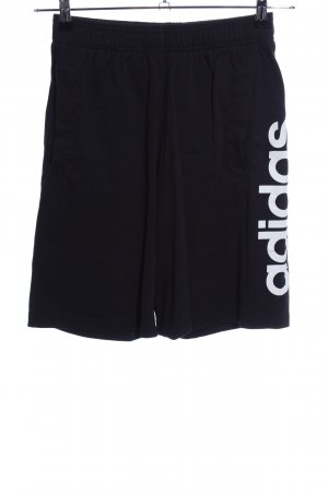 Adidas Sport Shorts black printed lettering casual look