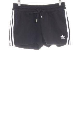 Adidas Sportshorts schwarz-weiß Motivdruck Casual-Look