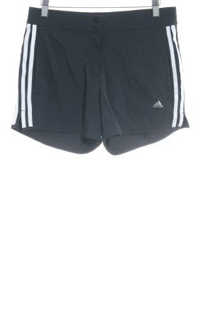 Adidas Short de sport noir-blanc motif rayé style athlétique