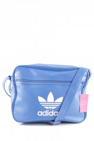 Adidas Sports Bag blue printed lettering casual look