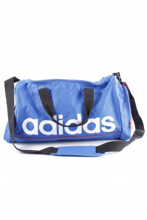 Adidas Sports Bag blue-white placed print athletic style