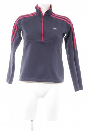 Adidas Sporttop donkerblauw-magenta casual uitstraling