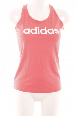 Adidas Sporttop hellrot-wollweiß platzierter Druck sportlicher Stil