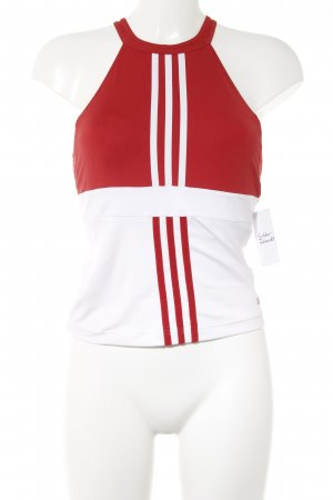 Adidas Sporttop rood-wit simpele stijl