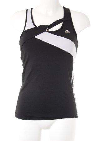 Adidas Sporttop zwart-wit atletische stijl
