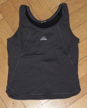 Adidas Sporttop antraciet-wit