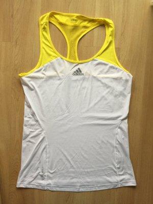 Adidas Sporttop weiß/gelb