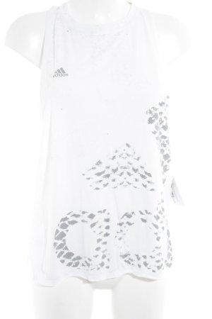 Adidas Sporttop weiß-grau Leomuster sportlicher Stil