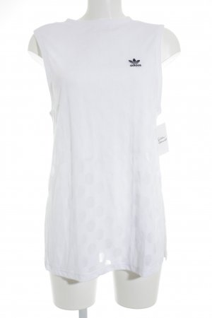 Adidas Sporttop weiß Punktemuster Casual-Look
