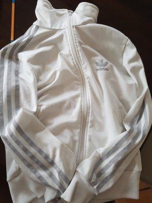 Adidas Gilet de sport argenté-blanc polyester