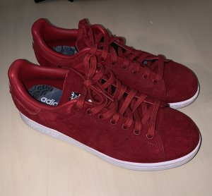 adidas stan smith Basket à lacet rouge foncé daim