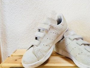 Adidas Basket velcro gris clair-blanc