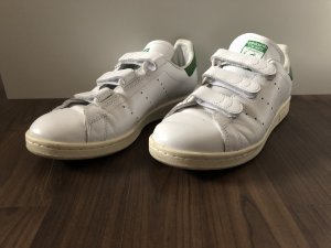 Adidas Basket velcro blanc-vert forêt