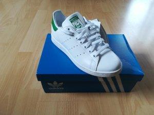 adidas stan smith Sneakers met veters wit-groen Leer