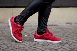 adidas stan smith Sneakers donkerrood-wit