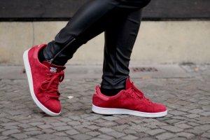 adidas stan smith Basket rouge foncé-blanc