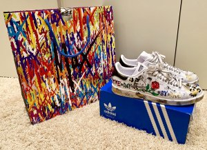 adidas stan smith Basket à lacet multicolore