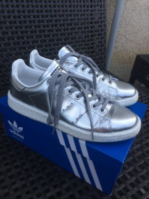 Adidas stan smith in silber mit ultra boost Sohle