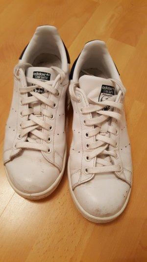 "ADIDAS ""Stan Smith"" Leder Sneaker, weiß-blau, Gr. UK 6 ½, US 7"