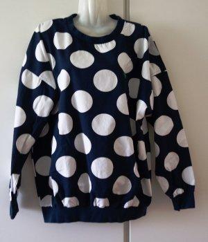 Adidas Stan Smith Polka Dots Sweater Gr. L navy weiß Street Wear Casual Look