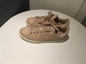 adidas stan smith Basket à lacet vieux rose-blanc