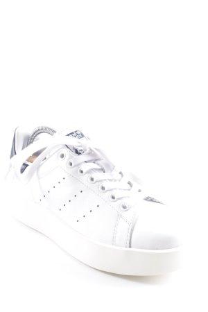 adidas stan smith Schnürschuhe weiß-schwarz sportlicher Stil