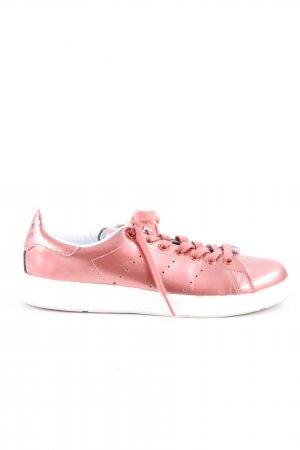 adidas stan smith Basket à lacet rose style décontracté