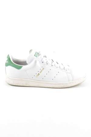 adidas stan smith Lace-Up Sneaker white-green athletic style