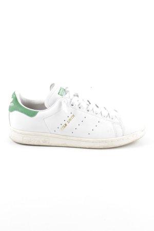 adidas stan smith Schnürsneaker weiß-grün sportlicher Stil
