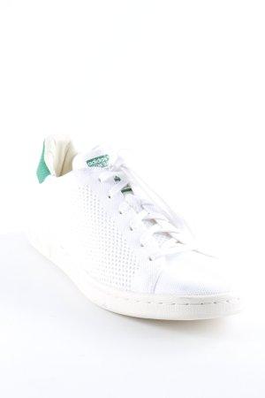 adidas stan smith Basket à lacet blanc-vert forêt motif tricoté lâche