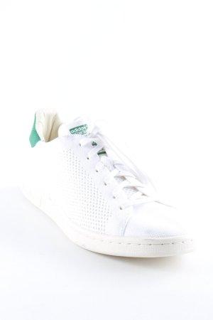 adidas stan smith Schnürsneaker weiß-waldgrün Lochstrickmuster Casual-Look