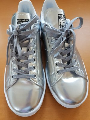 ADIDAS Stan Smith Sneaker in Metallic Silber - fast neu!             Gr. 40 2/3