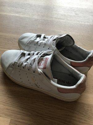 Adidas Stan Smith Sneakers weiß/rosa Größe 37,5