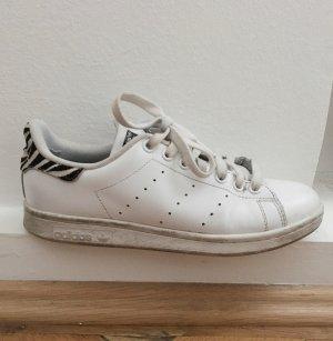 Adidas Stan Smith weiß mit Zebramuster