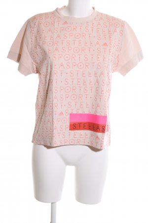 Adidas Stellasport Sports Shirt pink printed lettering casual look