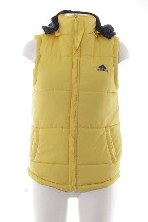 Adidas Veste matelassée jaune style athlétique