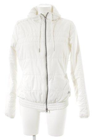 Adidas Steppjacke weiß-wollweiß sportlicher Stil