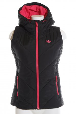 Adidas Quilted Gilet black-red themed print casual look