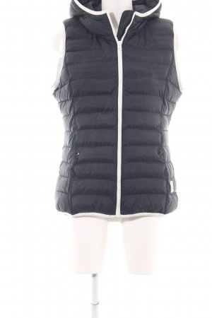 Adidas Quilted Gilet black-white quilting pattern casual look