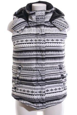 Adidas Steppweste weiß-schwarz grafisches Muster Casual-Look