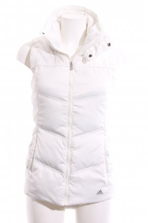 Adidas Quilted Gilet white themed print casual look