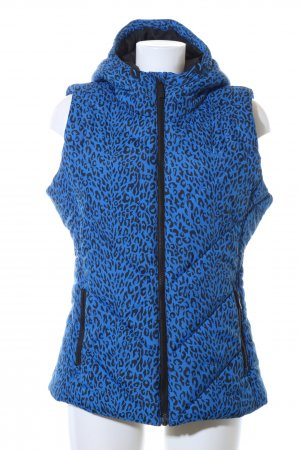 Adidas Quilted Gilet blue-black leopard pattern casual look